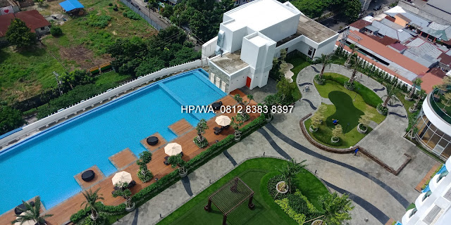 Private Sky Park and infinity Pool from 15th Fl The Manhattan Mall and Condominium 6th Fl Medan North Sumatera