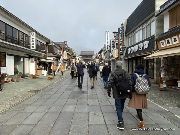 approach to Zenkoji Temple in Nagano City, Japan