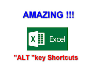 Most Amazing  Excel shortcuts  Using I ALT Buttom