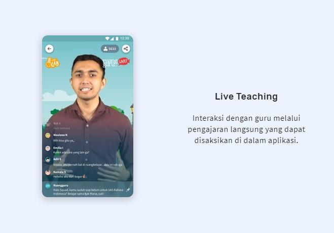Layanan belajar online terbaik : Ruangguru