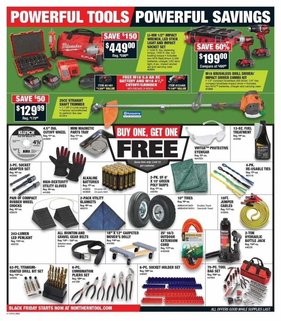 Northern Tool Friday tools 2018 ad