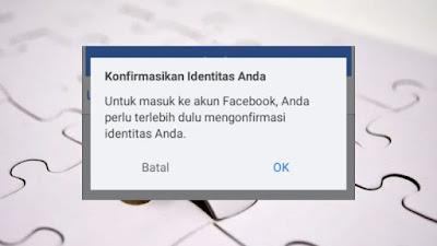 cara menghilangkan konfirmasi identitas facebook
