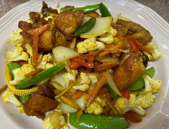 masakan ringkas, ayam goreng kunyit, ayam, masakan sedap, masakan mudah disediakan, menu mudah