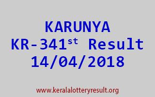 KARUNYA Lottery KR 341 Result 14-04-2018
