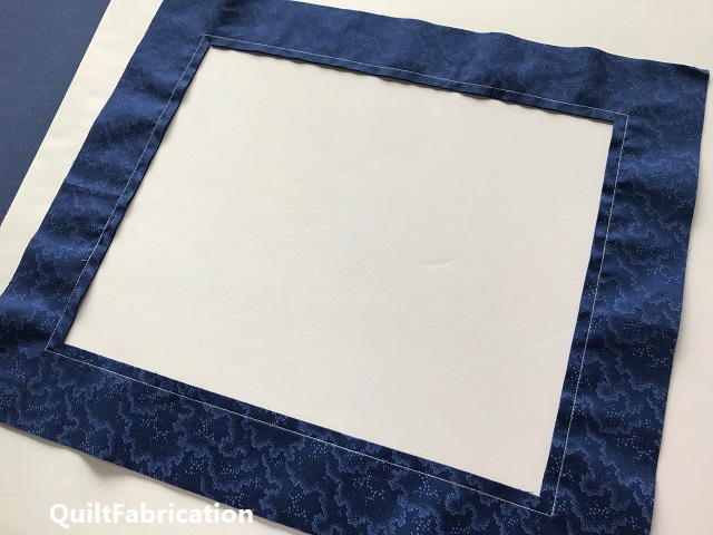 interior cut out of a picture frame quilt border