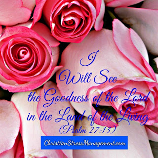 I will see the goodness of the Lord in the land of the living. (Psalm 27:13)