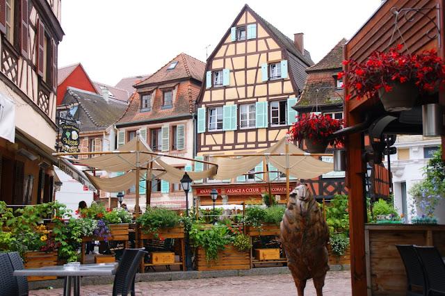 Le case a pain de boise nel centro di Colmar