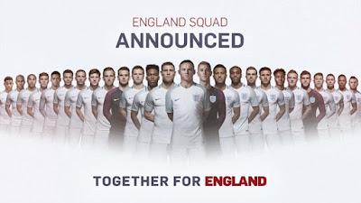 Skuad Resmi Timnas Inggris di Euro 2016