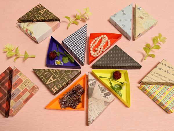 Cách gấp, xếp hộp giấy hình tam giác mỏng bằng giấy origami - How to make an origami Triangular