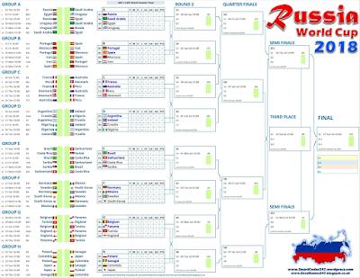 Calendario Mondiali di Calcio 2018 PDF
