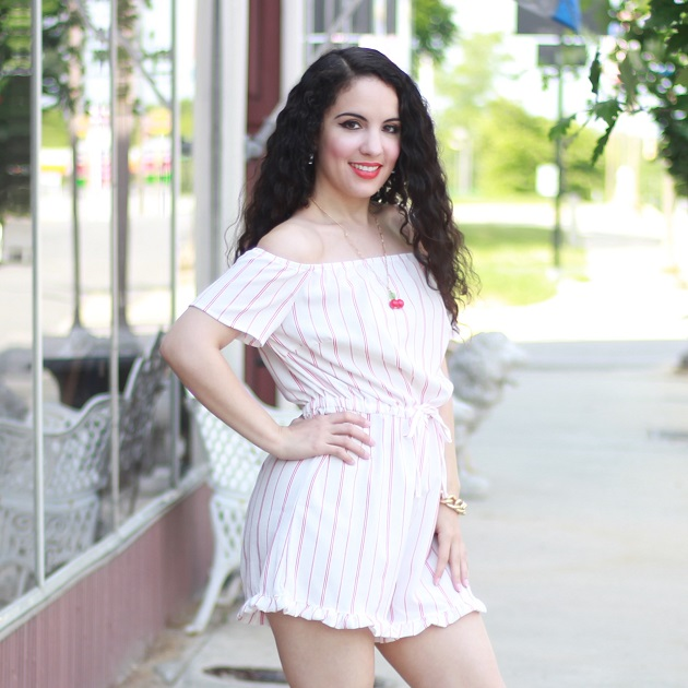 Striped Meaneor Romper