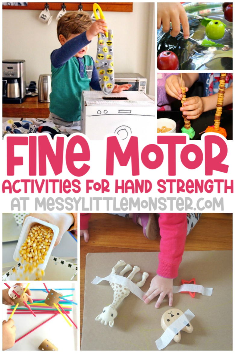 fine motor skills activities for hand strength