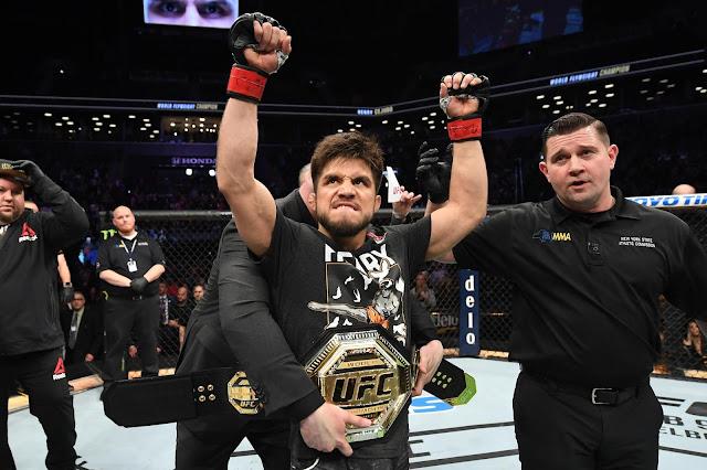 Henry Cejudo Celebrates UFC 249 Win