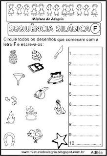 Sequência silábica, autoditados F
