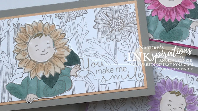 By Angie McKenzie for Casually Crafting Design Team Blog Hop; Click READ or VISIT to go to my blog for details! Featuring the Daisy Garden Cling Stamp Set, the Wildly Adorable Cling Stamp Set, the Celebrate Sunflowers Cling Stamp Set, the Hydrangea Haven Photopolymer Stamp Set and the new 2021-23 In Colors by Stampin' Up!® to create some mini slim occasion cards and envelopes; #stampinup #cardtechniques #cardmaking #daisygardenstampset #wildlyadorablestampset #celebratesunflowersstampset #hydrangeahavenstampset #annegeddesinspired  #sunflowerlittleone #stampingtechniques #stampinupcolorcoordination #casuallycraftingdesignteambloghop #naturesinkspirations #hingestamping #coloringwithblends #fussycutting  #diycards #handmadecards