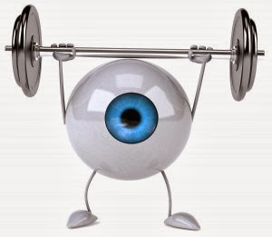 exercising eye
