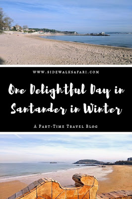 One Day in Santander in Winter (Pinterest Pin)