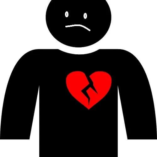boy with broken heart DP