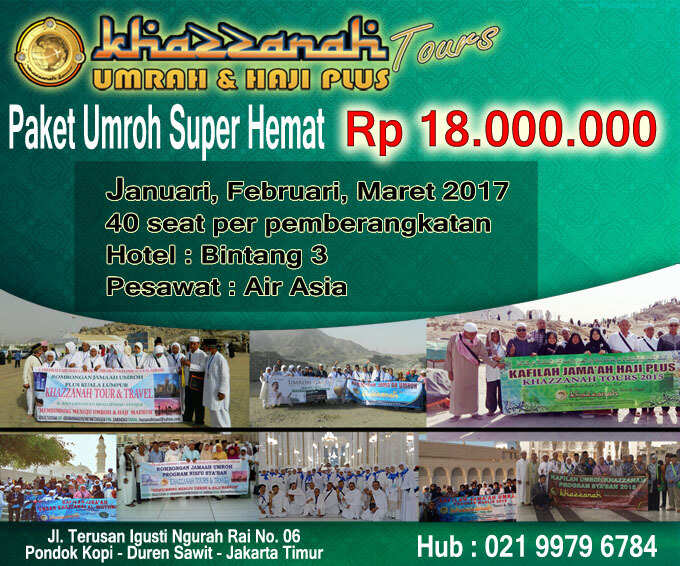 Paket Umroh Promo Khazzanah Tour Travel