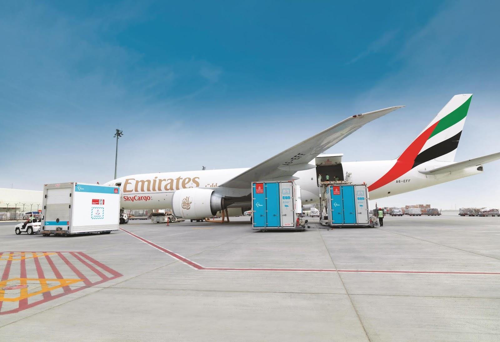 Emirates SkyCargo relata aumento no transporte de produtos perecíveis e farmacêuticos | É MAIS QUE VOAR