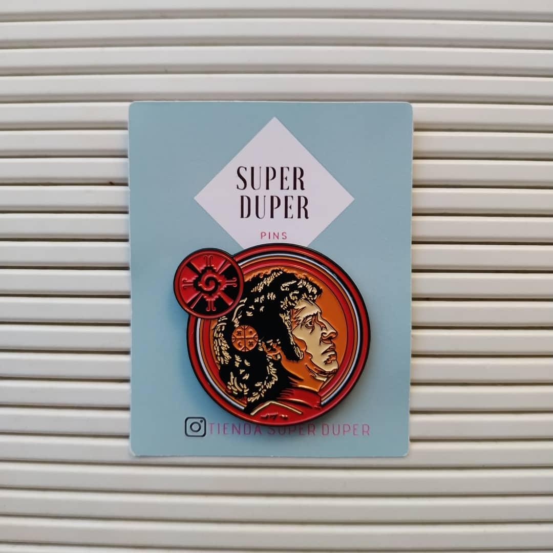 Colaboración Jofre conjota para Super Duper pins imagen de Victor Jara