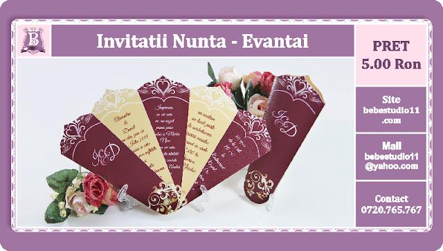 Invitatii Nunta Evantai