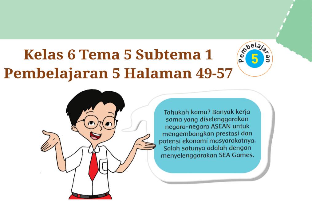 Kunci Jawaban Buku Tematik Tema 5 Kelas 6 Halaman 49 50 51 52 54 55 56 57 Koesrow