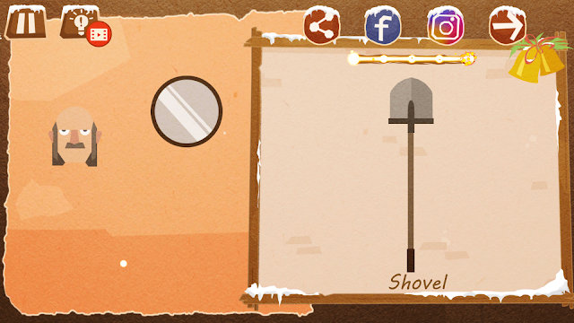 Chigiri: Paper Puzzle Novice Level 21 (Shovel) Solution, Walkthrough, Cheats