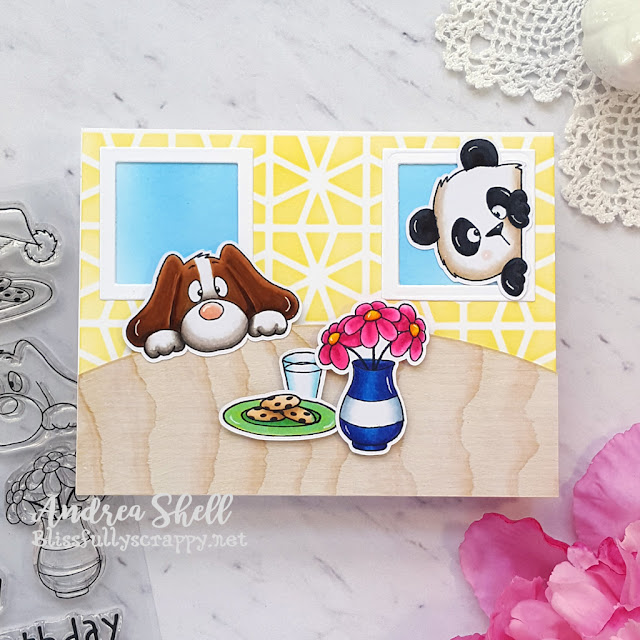 Cozy Scene Card by Andrea Shell | On the Table set by Gerda Steiner Designs