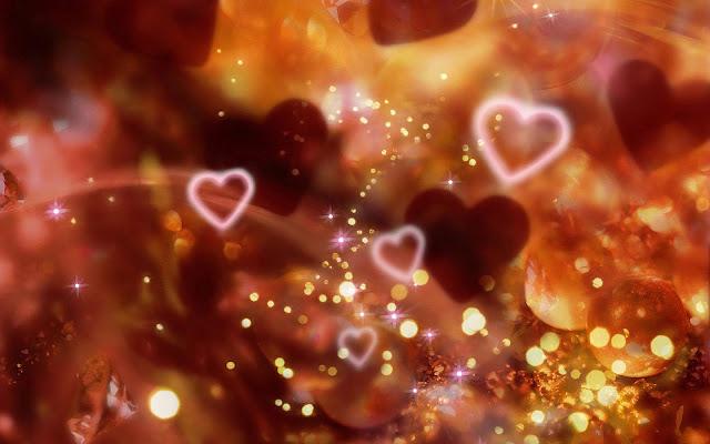 Kerst afbeelding met liefdes hartjes