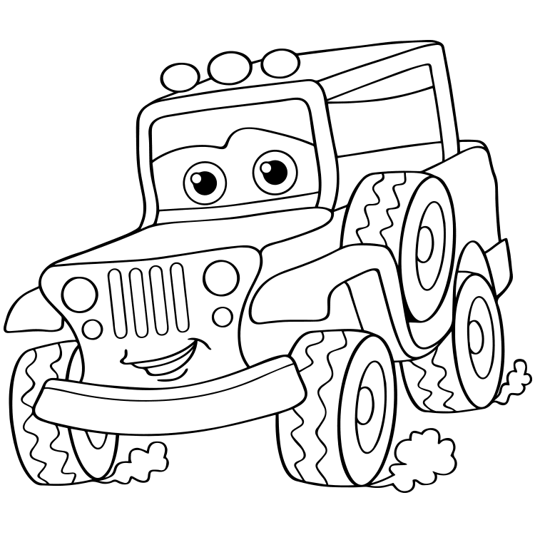 Mewarnai Gambar Mobil Jeep Aneka Mewarnai