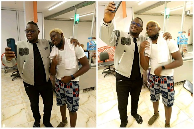 Moment Dr Sid Appreciate Nelson Cool After seeing Mavin Record Logo Tattooed on His Hand (Video)