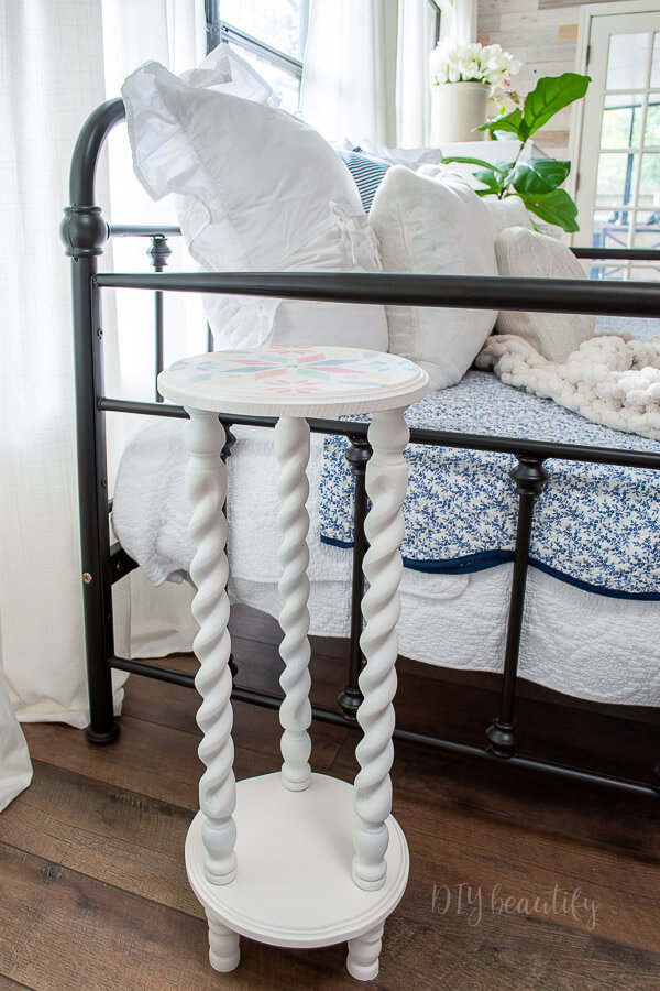 DIY cottage style side table