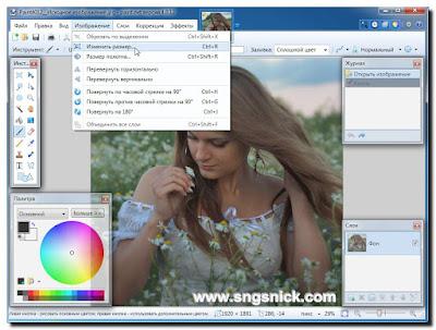 Paint.NET 4.0.12 Final - Меню Изображения