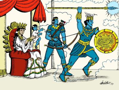 Señor Huitzilopochtli en acción(Libro Sagrada Historia Mexicana) Casa Editorial GEFAO
