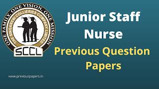 SCCL Junior Staff Nurse Previous Papers