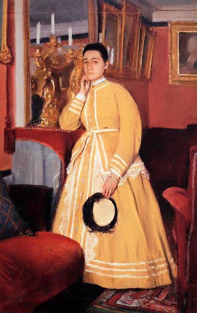 Эдгар Дега - Портрет мадам Эдмондо Морбилли, урождённая Тереза де Га (ок.1869)