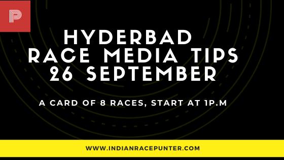 Hyderabad Race Media Tips 26 September