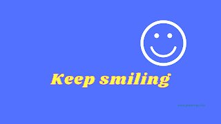 Keep smiling Desktop Wallpaper images with royal blue color background