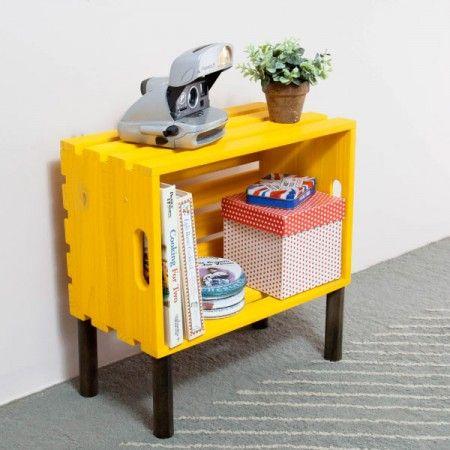 mesinha reutilizar caixotes de madeira