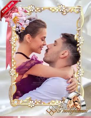 Hermoso marco para fotos de novios o esposos
