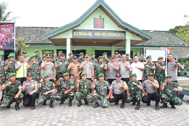Kapolda Jambi Laksanakan Kunjungan Silaturahmi Sinergitas Ke Koramil Sengeti