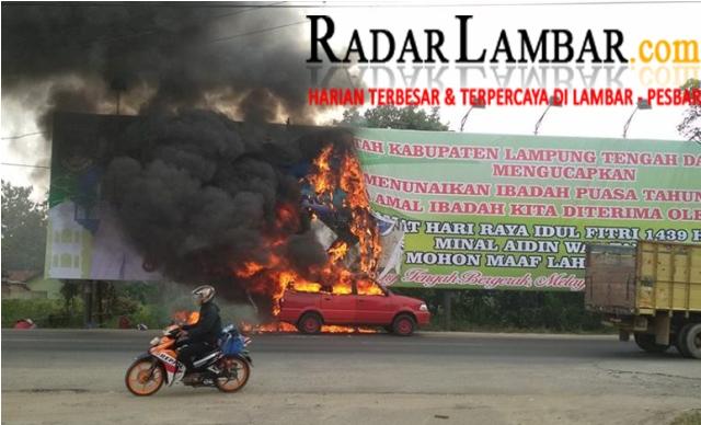 Randis Pemkab Lambar 'Ber-Plat Hitam' Hangus Terbakar