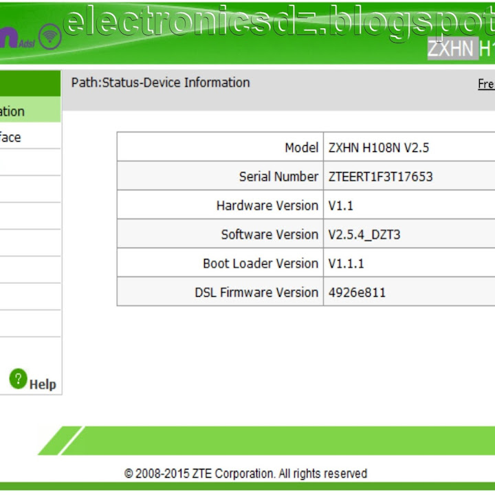 ZXHN H108N V2 5 firmware dumpدامب للروتر - ميكروتك ابورغدة نت
