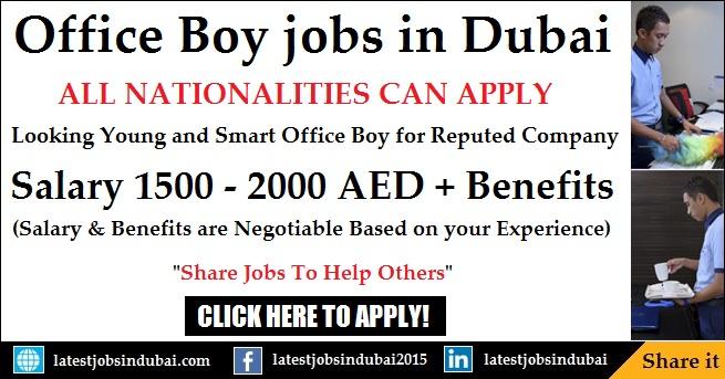 Office Boy jobs in Dubai UAE Free Zone