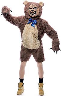 Disfraz de oso feroz.