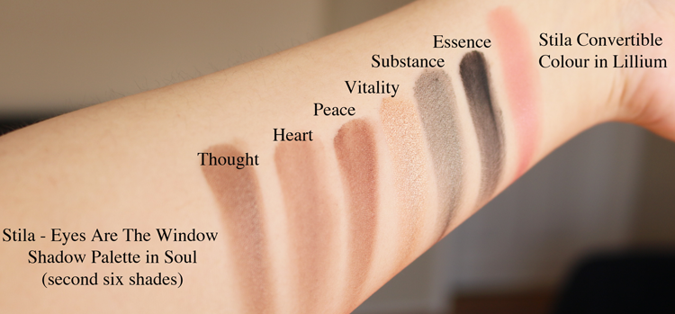 Stila Eyes Are The Window Shadow Palette in Soul review swatches