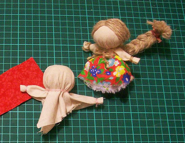 народная кукла на счастье мастер - класс от Насти: делаем голову и руки