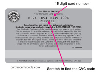 Where Is Cvc Code Located On Starbucks Gift Card