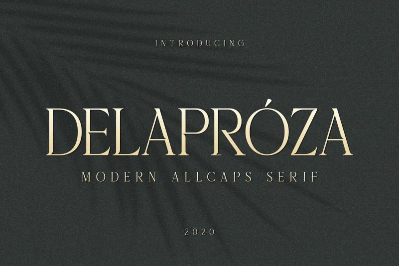 Delaproza Font - Free Modern Serif Typeface
